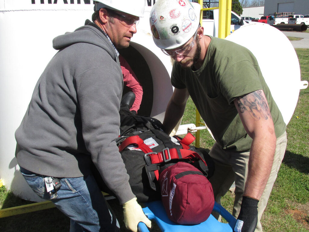 Hands on, practical, simulated, confined space entry training