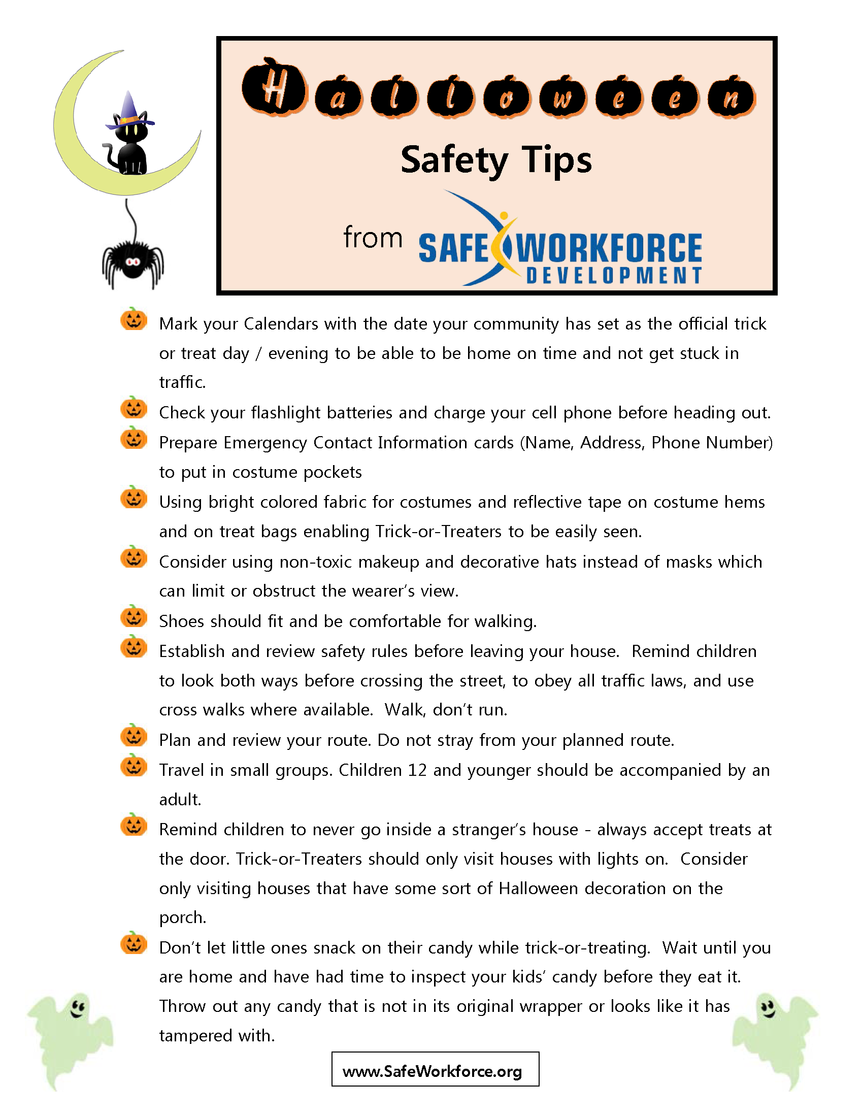 Safe Workforce Halloween Safety Tips 2015