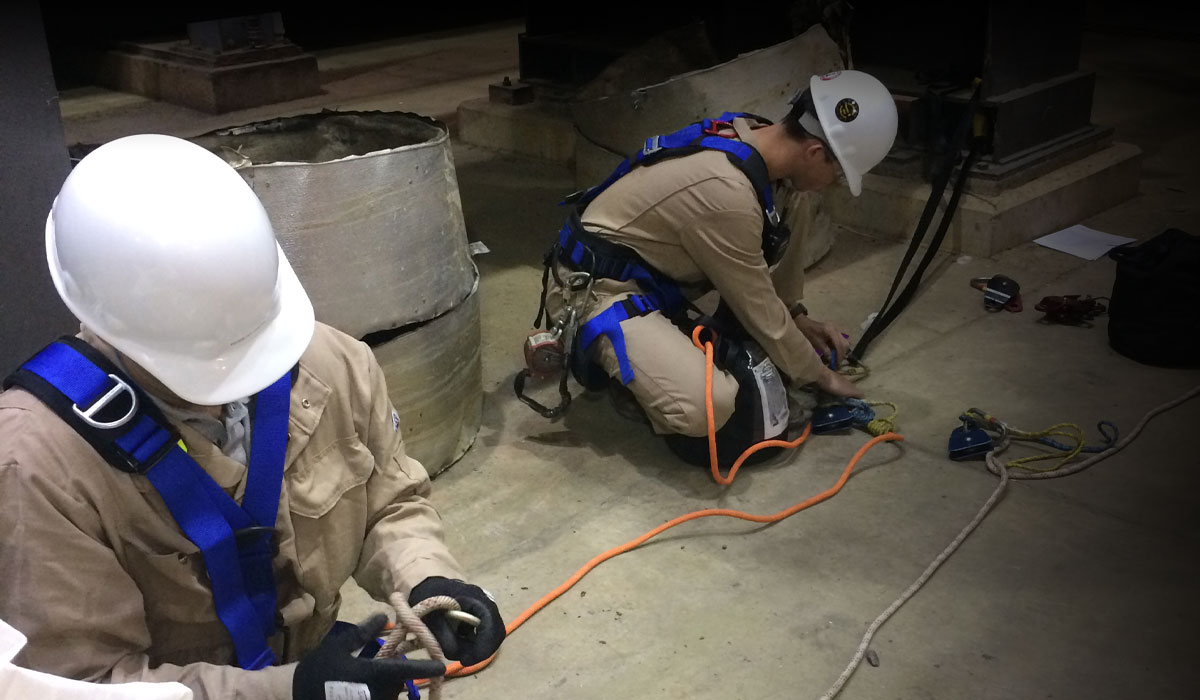 Confined Space Rope Retrieval